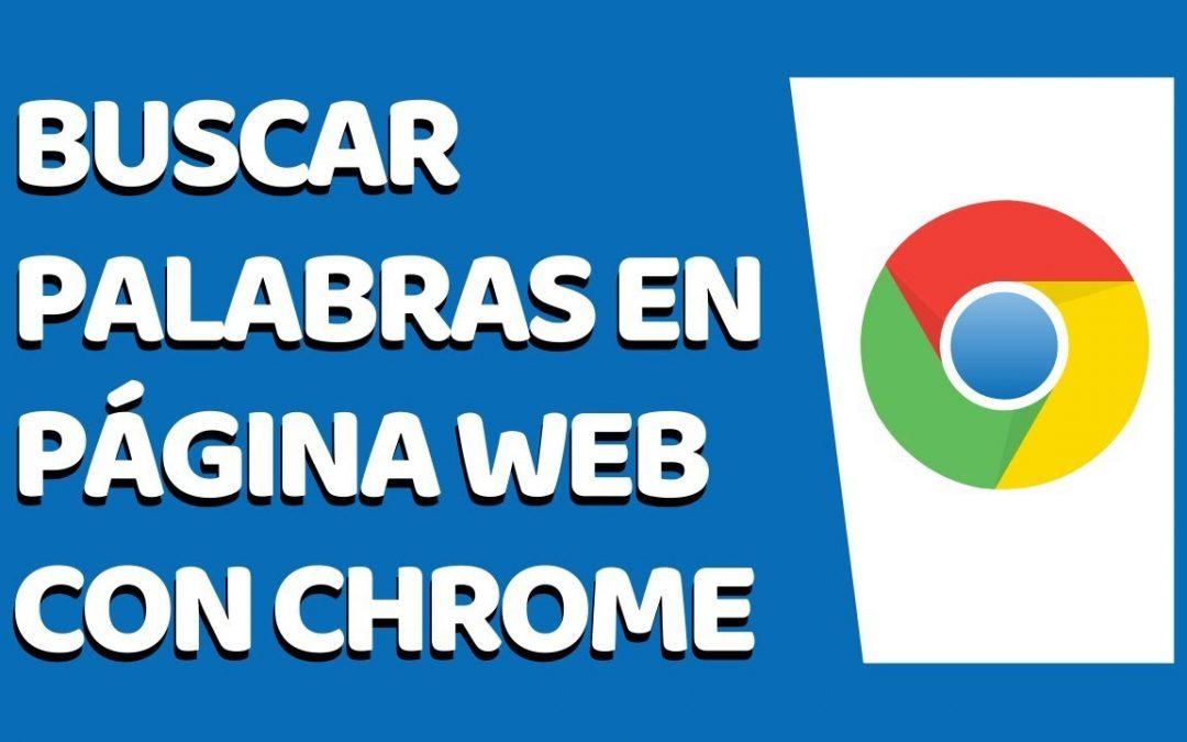 Cómo buscar una palabra en Google Chrome